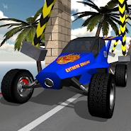 Extreme driving. Racing in car with stunts