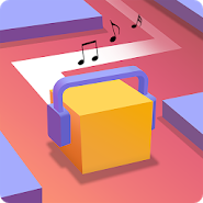 Dancing Cube Line Jump : Tap Tap Music World Tiles